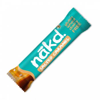 NAKD sóskaramell szelet 100% természetes összetevőkből készül, gluténmentes, tejmentes és vegán.